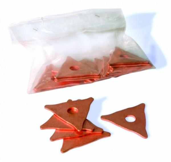 Anschweiß-Bleche 3-Fach (100 Stck/Pack)
